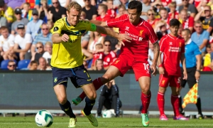 Photos: Reds slip to defeat in Denmark