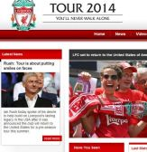 LFC launch Tour 2014 website