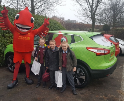 Mighty Red took a Member to School!