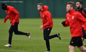 Latihan jelang menjamu Manchester United