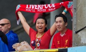 Fans LFC pada pertandingan lawan Man Utd di Stadion Sunlife