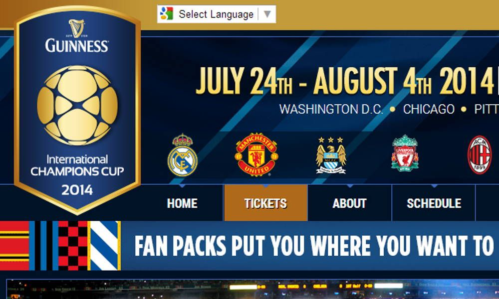 Visit the official International Champions Cup site