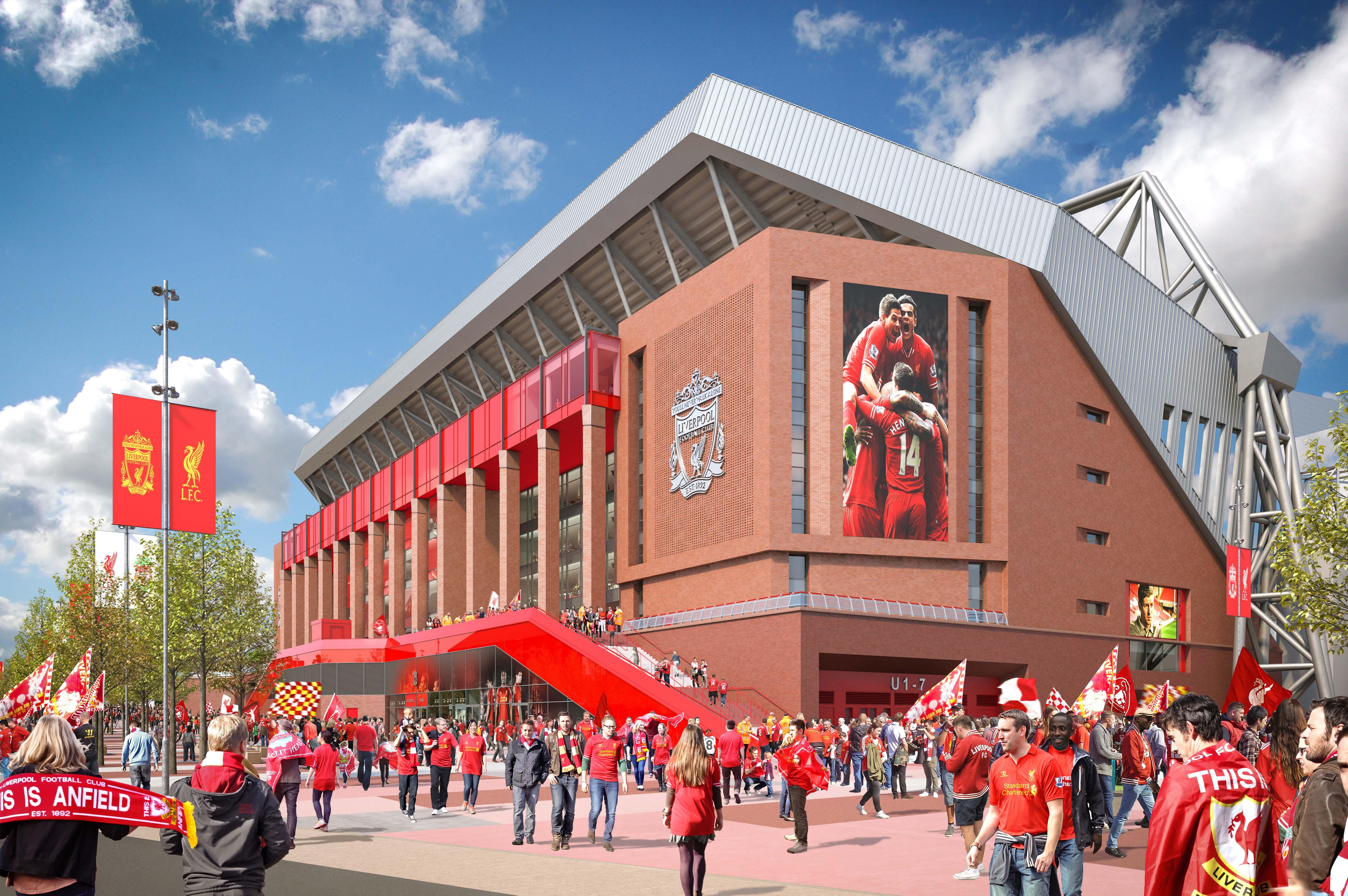 Liverpool Unveils Stadium Expansion Plans Construction