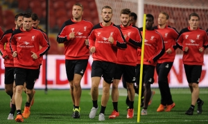 LFC squad train at Suncorp Stadium