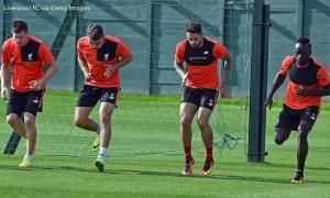 Liverpool berlatih sebelum lawan Derby County