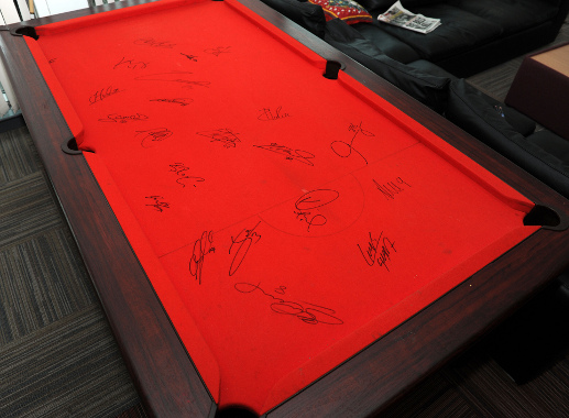 Signed Lfc Pool Table To Be Auctioned For Charity