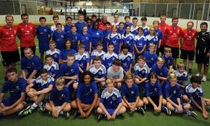 Rush datang ke acara klinik sepakbola di Charlotte