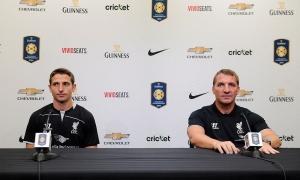 Konferensi pers Rodgers dan Allen sebelum lawan Milan