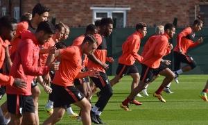 Latihan skuad Liverpool untuk hadapi Hull