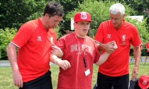 Fowler and Rush visit Perkins blind school