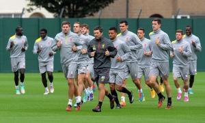 Latihan LFC jelang ajang perdana UCL melawan Ludogorets