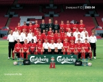 Wallpaper, Team, Squad, 2003, 2004, Houllier, Gerrard, Owen