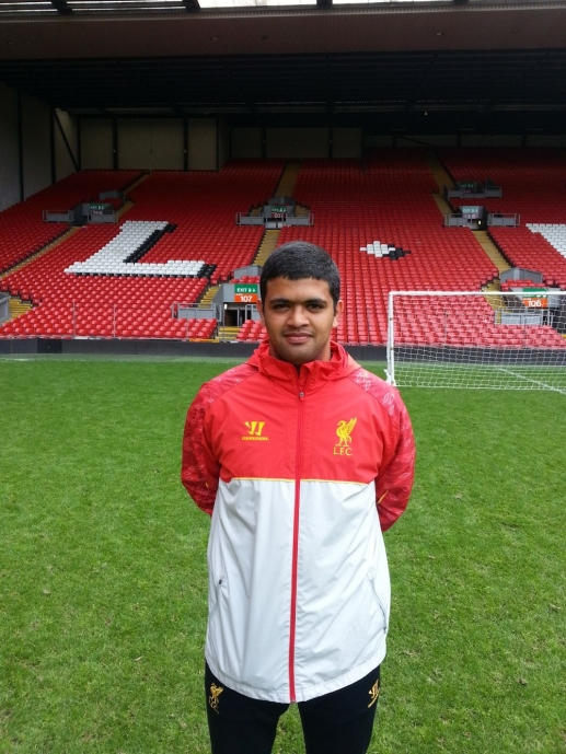 Local lad completes FA coaching scheme with LFC