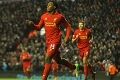 Sturridge nets at Kop end