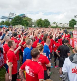 Sea of Red and Blue Run to Remember The 96