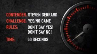 Steven Gerrard plays the Yes No game