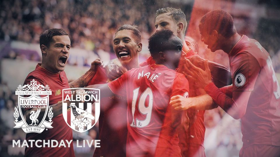 Matchday Live 4.30pm BST: LFC v West Brom