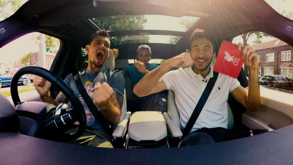 LFC Carpool: Lovren, Grujic and Markovic's drive to training